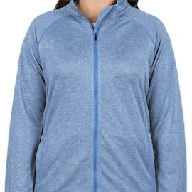 Devon & Jones Women's Heather Performance Full Zip - Color: French Blue Heather