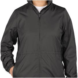 Port Authority Women's Core Colorblock Full Zip Jacket - Color: Battleship Grey / Black