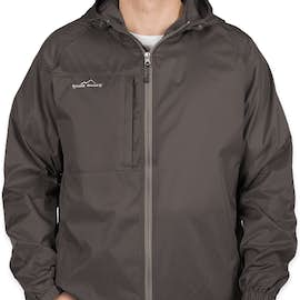 Eddie Bauer Full Zip Hooded Packable Jacket - Color: Grey Steel