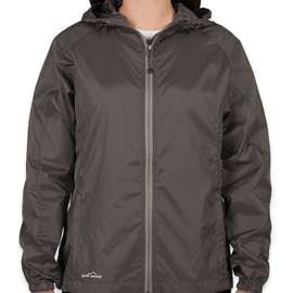Eddie Bauer Women's Full Zip Hooded Packable Jacket - Color: Grey Steel