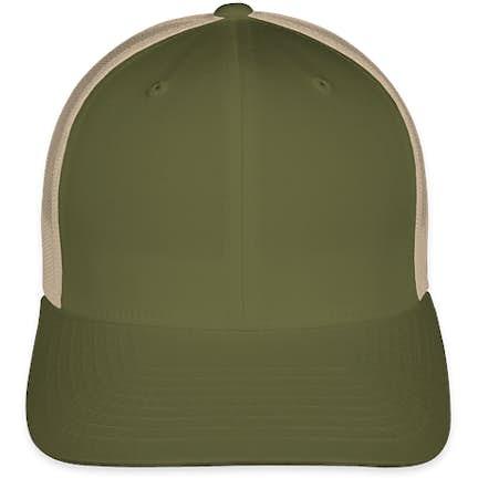 20a51740299 ... White Yupoong Retro Trucker Hat - Color  Moss   Khaki ...