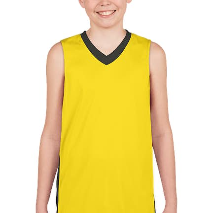 76a9d4efddd ... Augusta Youth Colorblock Basketball Jersey - Color  Power Yellow    Slate ...