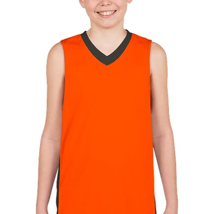 1959b382767 ... Augusta Youth Colorblock Basketball Jersey - Color  Power Orange    Slate ...