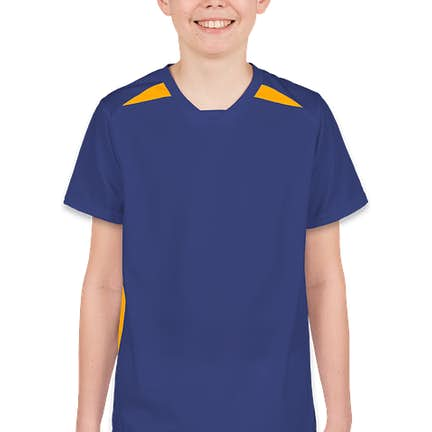 03f360dfad44 ... High Five Youth Contrast Performance Soccer Jersey - Color  Royal    Athletic Gold ...