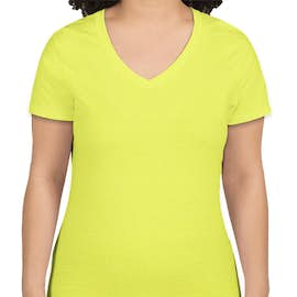 Hanes Women's X-Temp V-Neck T-shirt - Color: Neon Lemon Heather