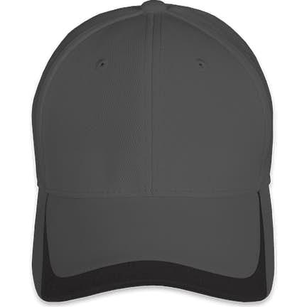 6c439310034de ... Sport-Tek Pique Contrast Performance Hat - Color  Graphite   Black ...