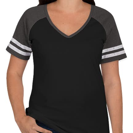 a5d9f5498bf ... District Women s Game Time V-Neck T-shirt - Color  Black   Heathered ...