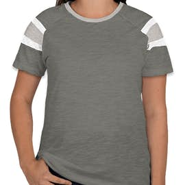 Augusta Women's Fanatic T-shirt - Color: Slate / Athletic Heather / White
