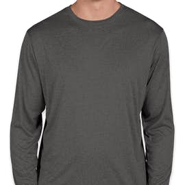 Sport-Tek Long Sleeve Heather Performance Shirt - Color: Graphite Heather