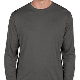 Sport-Tek Long Sleeve Heather Performance Shirt - Color: Graphite Heather