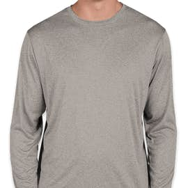 Sport-Tek Long Sleeve Heather Performance Shirt - Color: Vintage Heather