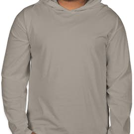 Comfort Colors Hooded Long Sleeve T-shirt - Color: Grey