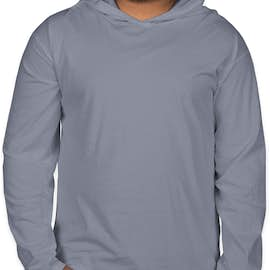 Comfort Colors Hooded Long Sleeve T-shirt - Color: Blue Jean