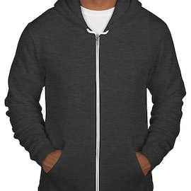 American Apparel USA-Made Flex Fleece Zip Hoodie - Color: Dark Heather Grey