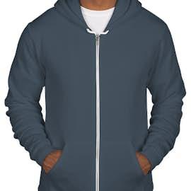 American Apparel USA-Made Flex Fleece Zip Hoodie - Color: Sea Blue