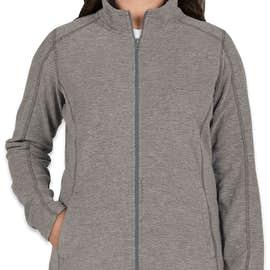 Port Authority Women's Heather Microfleece Full Zip Jacket - Color: Pearl Grey Heather