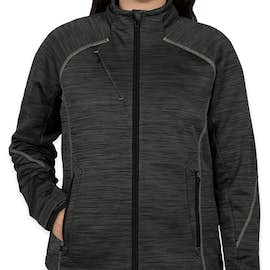 North End Women's Melange Tech Fleece Lined Jacket - Color: Carbon / Black