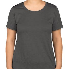 Sport-Tek Women's Heather Performance Shirt - Color: Graphite Heather
