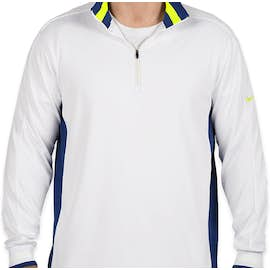 Nike Golf Dri-FIT Half Zip Performance Pullover - Color: White / Deep Royal / Volt
