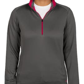 Nike Golf Women's Dri-FIT Half Zip Performance Pullover - Color: Dark Grey / Sport Fuchsia