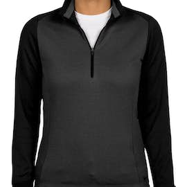 Nike Golf Women's Dri-FIT Half Zip Performance Pullover - Color: Anthracite Heather / Black