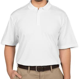 Port Authority Silk Touch Interlock Jersey Polo - Color: White