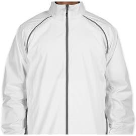 Elevate Egmont Packable Contrast Zipper Windbreaker - Color: White / Steel Grey
