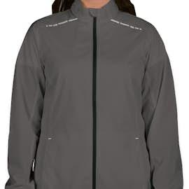 Port Authority Women's Reflective Running Full Zip Jacket - Color: Grey Steel / Deep Black