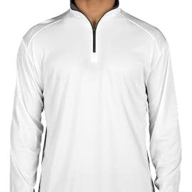 Badger Contrast Quarter Zip Performance Shirt - Color: White / Graphite