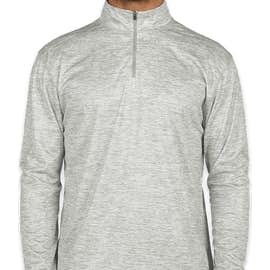 Badger Heather Quarter Zip Performance Shirt - Color: Silver