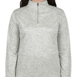 Badger Women's Heather Quarter Zip Performance Shirt - Color: Silver