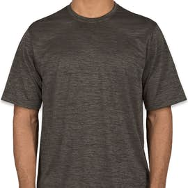 Sport-Tek Electric Heather Performance Shirt - Color: Grey-Black Electric