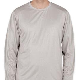 Champion Vapor Heather Long Sleeve Performance Shirt - Color: Oxford Grey