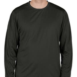 Champion Vapor Heather Long Sleeve Performance Shirt - Color: Black Heather