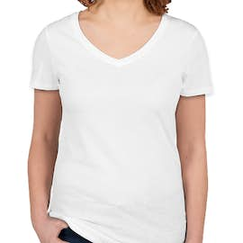 Threadfast Juniors Lightweight V-Neck Pigment Dyed T-shirt - Color: White