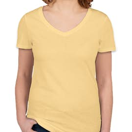 Threadfast Juniors Lightweight V-Neck Pigment Dyed T-shirt - Color: Butter