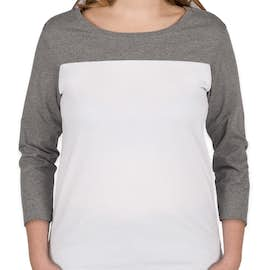 District Women's Rally T-Shirt - Color: Grey Frost / White