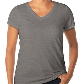 District Made Women's Tri-Blend V-Neck T-shirt - Color: Grey Frost