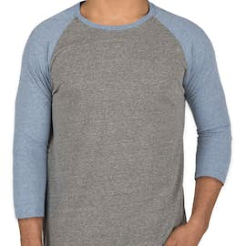 Threadfast Tri-Blend Baseball Raglan - Color: Grey / Royal Tri-Blend
