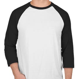Hanes X-Temp Baseball Raglan - Color: White / Black