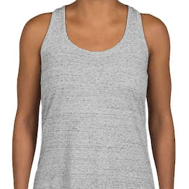 District Made Women's Cosmic Twist Back Tank - Color: White / Black Cosmic