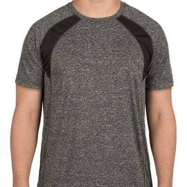 Rawlings Heather Colorblock Performance Shirt - Color: Heather Charcoal