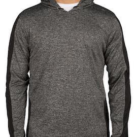 Rawlings Heather Colorblock Performance Hooded Shirt - Color: Heather Charcoal