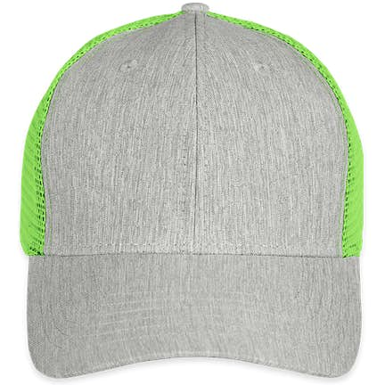 25e1bd95cb2 ... Big Accessories Urban Trucker Hat - Color  Light Grey   Neon Green ...