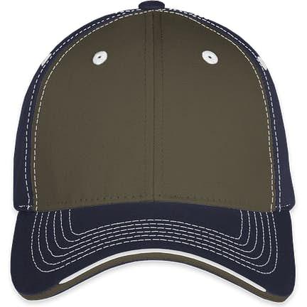 2b2da1d9f26d3 ... Sportsman Tri-Color Contrast Stitched Hat - Color  Olive   Navy ...