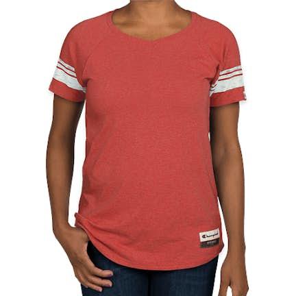 fc1c18c50d ... Champion Authentic Women's Tri-Blend Varsity T-shirt - Color: Carmine  Red Heather ...