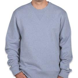 Champion Authentic Sueded Fleece Crewneck Sweatshirt - Color: Blue Jazz Heather