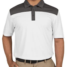 Clique by Cutter & Buck Colorblock Performance Polo - Color: White / C Titan