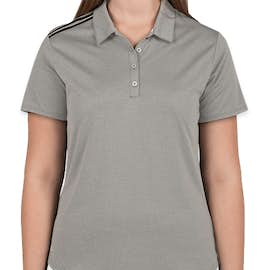 Adidas Women's Climacool 3-Stripes Shoulder Polo - Color: Medium Grey Heather