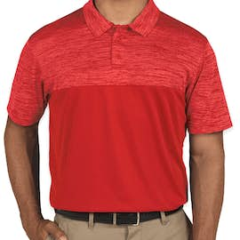 Augusta Tonal Heather Performance Polo - Color: Red